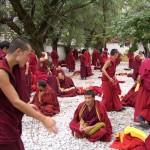 moines en discusions