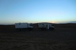 bivouac en plein désert