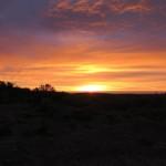 levé de soleil sur la Pampa
