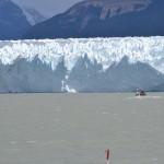 glacier perito Morino vue du bateau